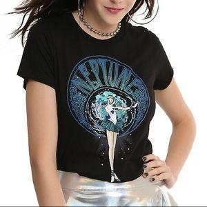 Hot Topic Sailor Neptune Sailor Moon Black T Shirt